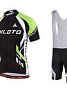 Miloto Maillot et Cuissard a Bretelles de Cyclisme Homme Manches courtes VeloCuissard a bretelles Shirt Maillot Collant a