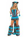 Costumes de Cosplay / Costume de Soiree Animal / Bunny girl Fete / Celebration Deguisement Halloween Noir / Bleu VintageRobe /