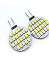 3W G4 LED a Double Broches T 24 SMD 3528 200 lm Blanc Chaud / Blanc Froid Decorative DC 12 V 2 pieces