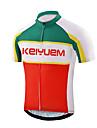 KEIYUEM® Maillot de Cyclisme Femme / Homme / Unisexe Manches courtes VeloEtanche / Respirable / Sechage rapide / Design Anatomique / Zip