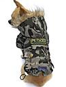 Katter / Hundar Kappor / Huvtröjor Kamoflagefärg Hundkläder Vinter Kamouflage Mode / Håller värmen / Vindtät
