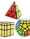 Shengshou® Cube de Vitesse  Pyraminx Extraterrestre Megamix Miroir Niveau professionnel Cubes magiques Noir Autocollant lisseAnti-pop