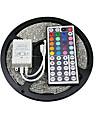 z®zdm 5m 150x5050 SMD RGB LED strip ljus IP20 med 44key fjärrkontroll (12V)