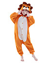kigurumi Pyjamas New Cosplay® Lion Collant/Combinaison Fete / Celebration Pyjamas Animale Halloween Orange Couleur Pleine Polaire Kigurumi
