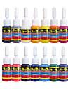 Solong tatuering bläck 14 färger inställd 5ml / flaska tatuering pigment kit ti1001-5-14
