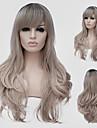 aska blond vågigt hår och vinden nattklubb föreställningar gata färg miljoner med en partiell peruk.
