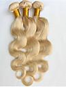 3 Pieces Ondulation naturelle Tissages de cheveux humains Cheveux Bresiliens Tissages de cheveux humains Ondulation naturelle