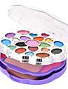 28 Fond de Teint+Fards a Paupieres+Gloss+Miroir Houppette/Eponge Pinceaux de Maquillage Sec Humide Yeux Visage LevresGloss colore