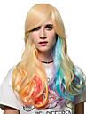 longs cheveux boucles degrade de couleur, Europe et les Etats perruque etats de la mode.