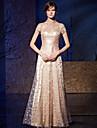 O linie de înaltă lungime a gâtului lungime organza charmeuse rochie de balet cu paiete