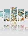 canvas Set Landskap Moderna,Fem paneler Kanvas Vertikal Print Art väggdekor For Hem-dekoration
