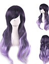 Cosplay Suits Cosplay Cosplay Ombre Purple Long Anime Cosplay Wigs 75cm CM Heat Resistant Fiber Female