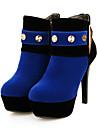 Homme-Bureau & Travail Habille Decontracte-Noir Bleu Rouge-Talon Aiguille-club de Chaussures Bottes a la Mode-Bottes-Similicuir