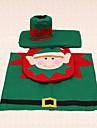 3st elf jul toalettsits tank matta för garnering för hem badrum leveranser