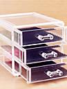 Rangement pour Maquillage Boite de maquillage Rangement pour Maquillage Plastique Acrylique Couleur Pleine 15x12x10.8 Transparents