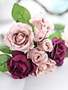 1 1 Une succursale Polyester Roses Fleur de Table Fleurs artificielles 9.8*5.5*5.5(inch)