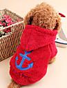 Chat Chien Pulls a capuche Vetements pour Chien Mignon Garder au chaud Marin Blanc Gris Rouge Rose Rouge Bleu