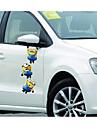 petit homme jaune voleur papa retroviseurs du vehicule porte miroir autocollants lahua ornement de capot gratter autocollants e-52