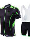 Fastcute® Cykeltröja med Bib-shorts Dam / Herr / Barns / Unisex Kort ärm CykelAndningsfunktion / Snabb tork / Fuktgenomtränglighet / 3D