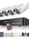 sannce® 4ch hdmi NVR poe kit utomhus 960p CCTV säkerhet kamerasystem IP-nätverk med 1TB