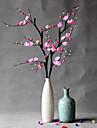 1 1 Une succursale Polyester / Plastique Prune Fleur de Table Fleurs artificielles 39..37inch/100cm