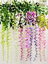 1 Gren Silke Violett Väggblomma Konstgjorda blommor 110CM