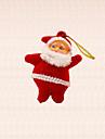 6st mini jultomten hängande julgran dekoration vintern xmas träd hängande prydnad