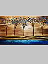 Peint a la main Abstrait Paysage A fleurs/Botanique Paysages Abstraits Peintures a l\'huile,Moderne Un Panneau ToilePeinture a l\'huile