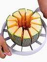 rostfritt stål vit bekväm vattenmelon fräs kök verktyg frukt slicer20 * 20cm