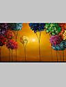 Pictat manual Abstract Peisaj Floral/Botanic Peisaje Abstracte  Orizontal,Modern Un Panou Canava Hang-pictate pictură în ulei For Pagina