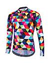 Fastcute® Maillot de Cyclisme Homme Manches longues Velo Respirable / Materiaux Legers / Pocket Retour / Anti-transpiration / Confortable