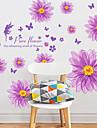 Botanique / Romance / Nature morte Stickers muraux Stickers avion / Stickers muraux 3D Stickers muraux decoratifs,PVC MaterielAmovible /