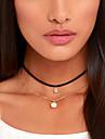 Pentru femei Coliere Choker tatuaj cravată Circle Shape Perle Material Textil Diamante ArtificialeDesign Basic Stil Tatuaj stil