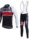 Sport Cykeltröja Herr / Unisex Lång ärm CykelAndningsfunktion / Håller värmen / Snabb tork / Fleecefoder / Fuktgenomtränglighet / Bärbar