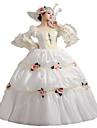 Une Piece/Robes Gothique Lolita Classique/Traditionnelle Steampunk® Cosplay Vetrements Lolita Fleur Manches 3/4 Long Robe Chapeau Pour