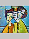 Peint a la main Personnage / Portraits Abstraits Un Panneau Toile Peinture a l\'huile Hang-peint For Decoration d\'interieur