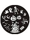 conception de halloween rond plaques a clous en acier inoxydable