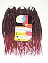Senegal Tresses Twist Extensions de cheveux 12Inch Kanekalon 81 Strands Brin 125g gramme Braids Hair