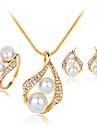 Bijoux Colliers decoratifs / Boucles d\'oreille / Anneaux Set A la Mode Mariage / Soiree 1set Femme Blanc Cadeaux de mariage