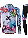 Sport Cykeltröja och tights Unisex Lång ärm CykelAndningsfunktion / Snabb tork / Anatomisk design / Ultraviolet Resistant / Bärbar / 3D
