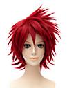courte perruque frisee couleur rouge de la mode cosplay synthetique perruque afro-americaine