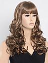 28inch långt lockigt brunt blond två ton färg hår peruker sexiga mode kvinnor natt pub klassisk frisyr