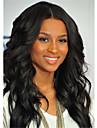 couleur naturelle moyenne noire separation brazilian remy vierge de cheveux humains dentelle glueless devant perruque avec des cheveux de