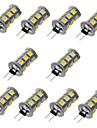 3W G4 LED a Double Broches T 18 SMD 5050 200-300 lm Blanc Chaud / Blanc Froid Decorative DC 12 V 10 pieces