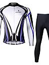 PALADIN® Maillot et Cuissard Long de Cyclisme Homme Manches longues VeloRespirable / Sechage rapide / Resistant aux ultraviolets / Bandes