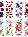 1 Tatouages Autocollants Series de fleur Motif Bas du Dos ImpermeableHomme Femme Adulte Adolescent Tatouage TemporaireTatouages