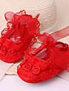 Flickor Sneakers Komfort Konstläder Sommar Utomhus Veckad Platt klack Purpur Gul Röd Blå Rosa Platt