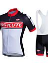 Fastcute® Maillot et Cuissard a Bretelles de Cyclisme Femme Homme Unisexe Manches courtes VeloRespirable Sechage rapide Permeabilite a