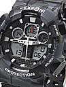 EXPONI Bărbați Ceas Sport Ceas Militar Ceas La Modă Ceas de Mână QuartzLED LCD Calendar Cronograf Rezistent la Apă Zone Duale de Timp