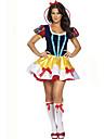 Cosplay Kostymer/Dräkter / Maskerad / Festklädsel Prinsessa / Sagolikt / Tomtekostymer Festival/Högtid Halloween Kostymer Gul Lappverk